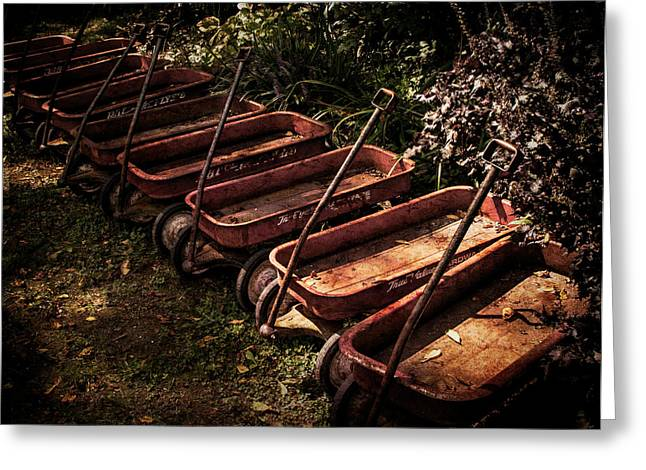 Wagons Of Yesterday Greeting Card by Sharon Meyer