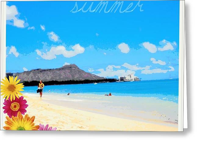 Greeting Card featuring the photograph Waikiki Beach by Mindy Bench