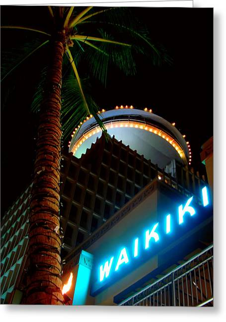 Waikiki Nightlife Greeting Card