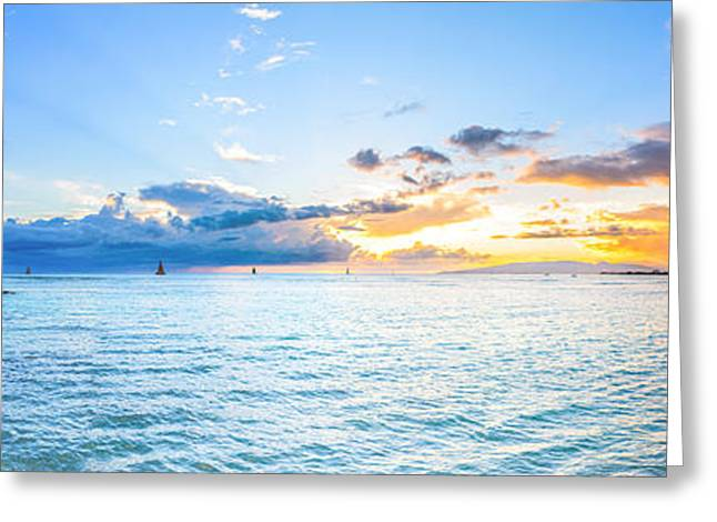 Waikiki Sunset After An Afternoon Thunderstorm Greeting Card