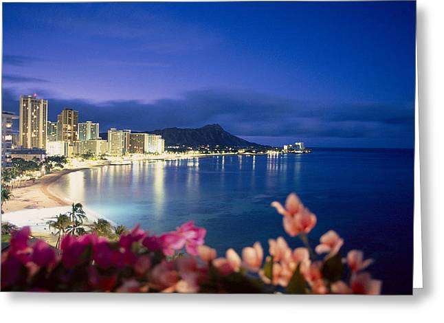 Waikiki Twilight Greeting Card