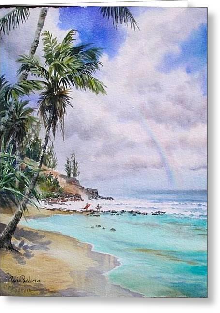 Waikoko Surf Greeting Card by Patrice Pendarvis
