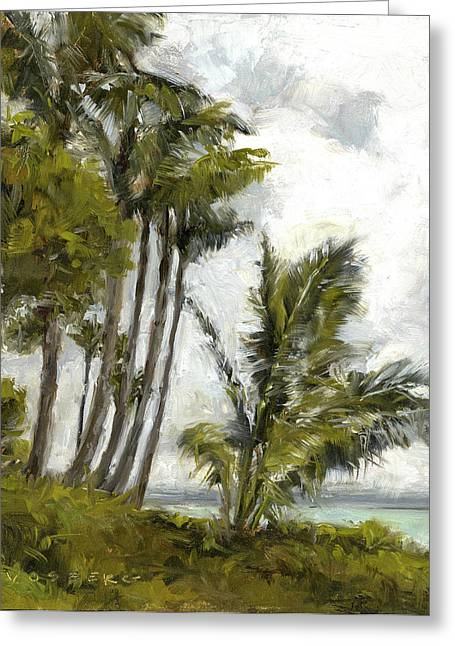 Wailea Palms Greeting Card by Stacy Vosberg
