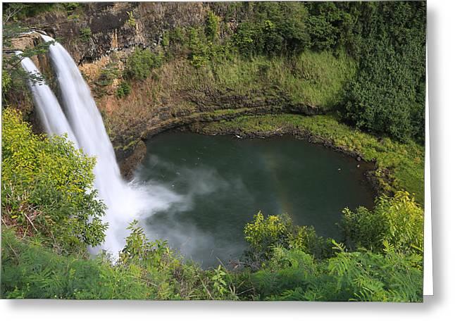Wailua Falls Kauai Hawaii Greeting Card by Sam Amato