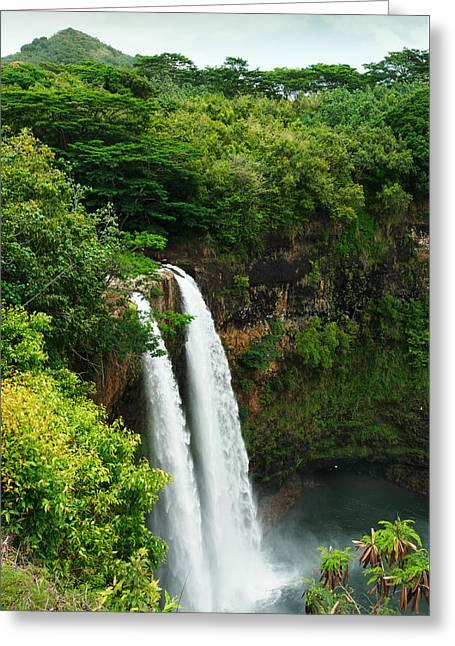 Wailua Falls Kauai Greeting Card