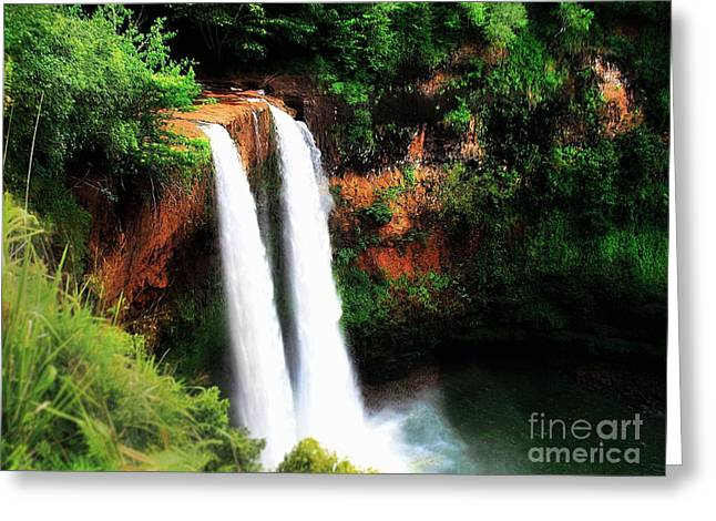 Wailua Falls Greeting Card