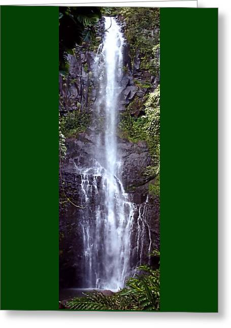 Wailua Falls Maui Hawaii Greeting Card