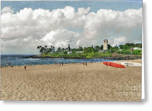 Waimea Beach Park In Hawaii Greeting Card by Juli Scalzi