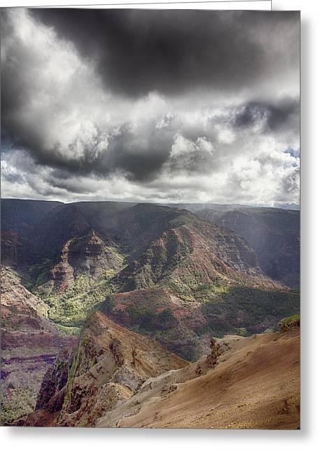 Waimea Canyon Lookout V5 Greeting Card by Douglas Barnard