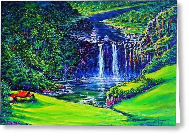 Waimea Falls Lv Greeting Card by Joseph   Ruff