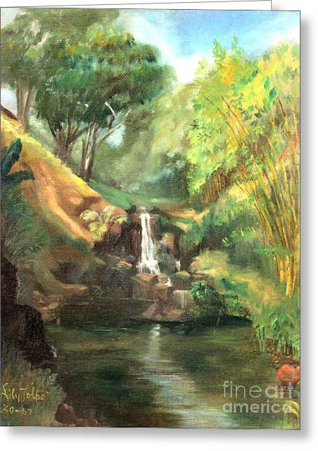 Waimea Falls Oahu Hawaii - 1970 Greeting Card
