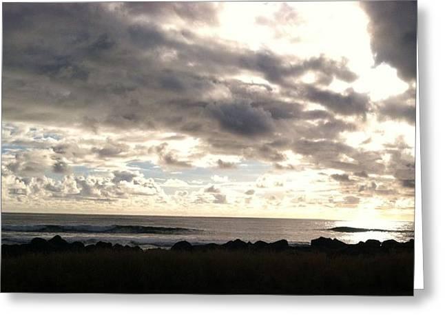 Waimea Sunset II Greeting Card by Alohi Fujimoto
