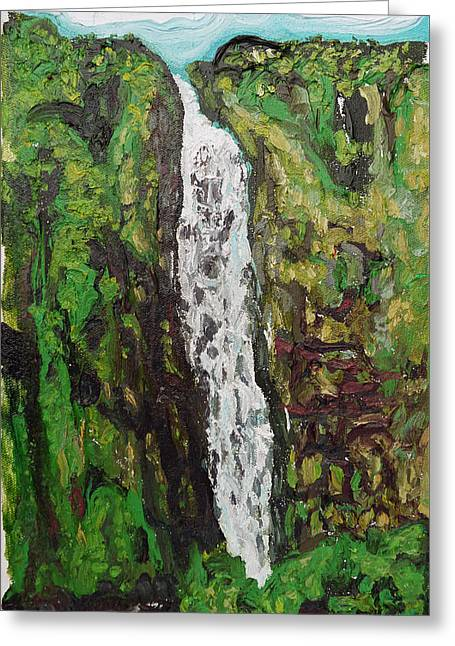 Waimoku Falls Greeting Card by Joseph Demaree
