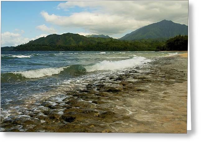Greeting Card featuring the photograph Wainiha Bay - Kauai  by Photography  By Sai