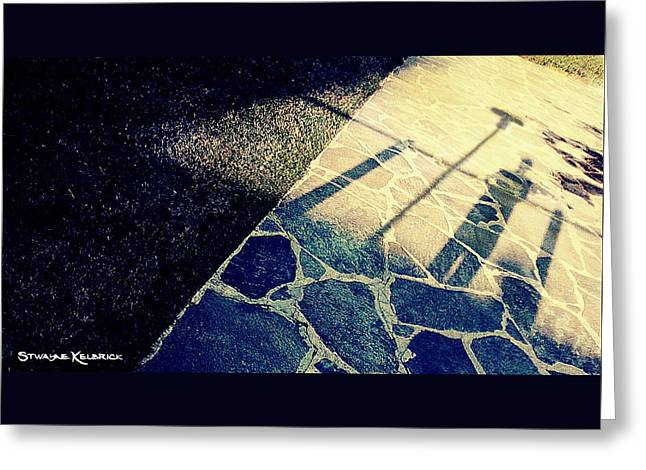 Greeting Card featuring the photograph Wait In The Shade by Stwayne Keubrick
