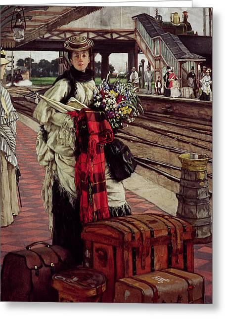 Waiting At The Station, Willesden Junction, C.1874 Greeting Card