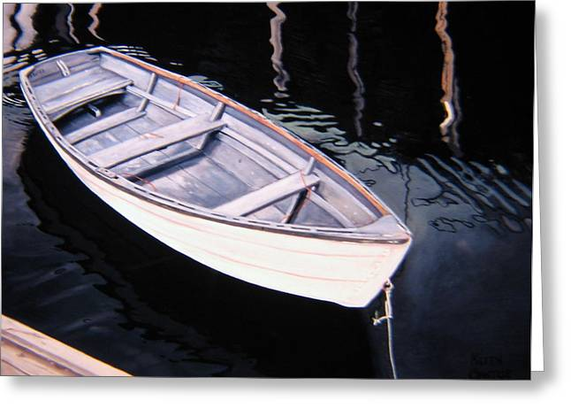 Waiting - Dinghy Greeting Card