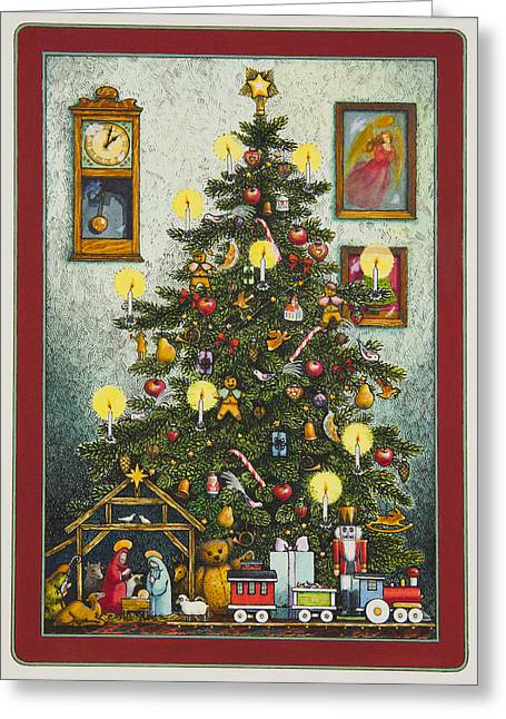 Waiting For Christmas Morning Greeting Card