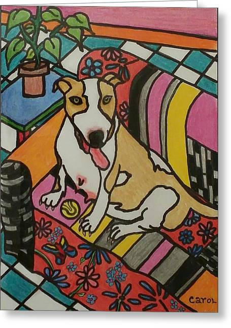 Waiting For Delivery Greeting Card by Carol Hamby