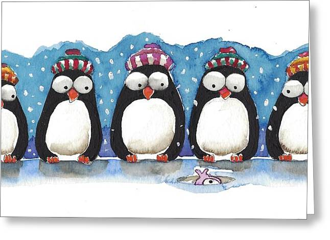 Waiting For Dinner Greeting Card by Lucia Stewart