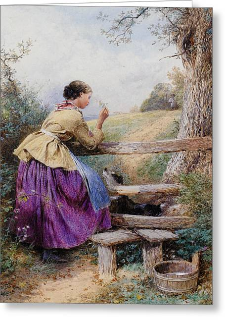 Waiting For Father Greeting Card by Forest Myles Birket