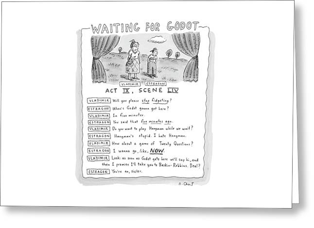'waiting For Godot' Greeting Card
