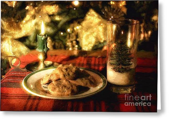 Waiting For Santa Greeting Card by Lois Bryan