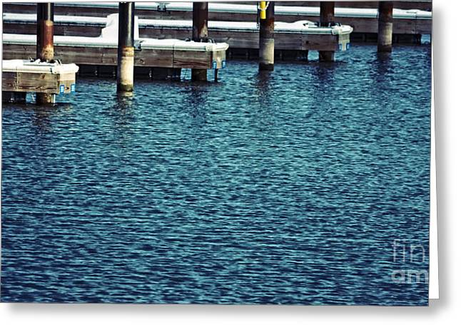 Waiting For Summer - Boat Slips Greeting Card by Mary Machare