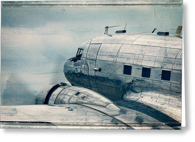Waiting For Take Off Greeting Card by Steven Bateson