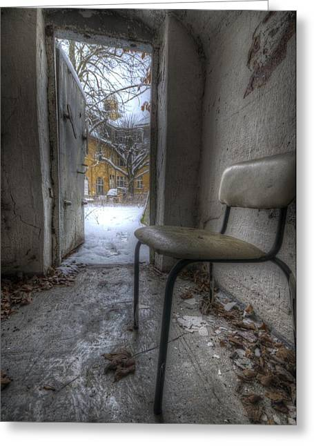 Waiting For The Cold War Greeting Card by Nathan Wright