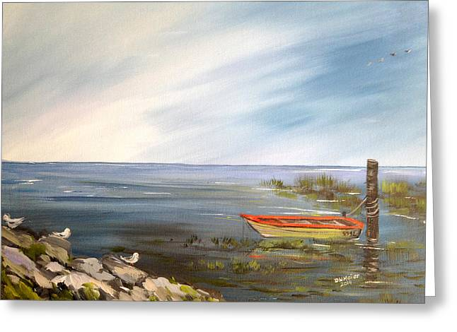 Waiting For The Fisherman Greeting Card by Dorothy Maier