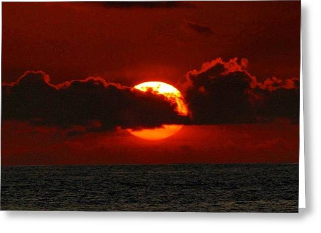 Waiting For The Green Flash That Never Greeting Card by Brian Governale