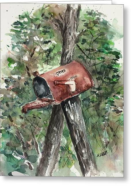 Waiting For The Mail Greeting Card by Stephanie Sodel