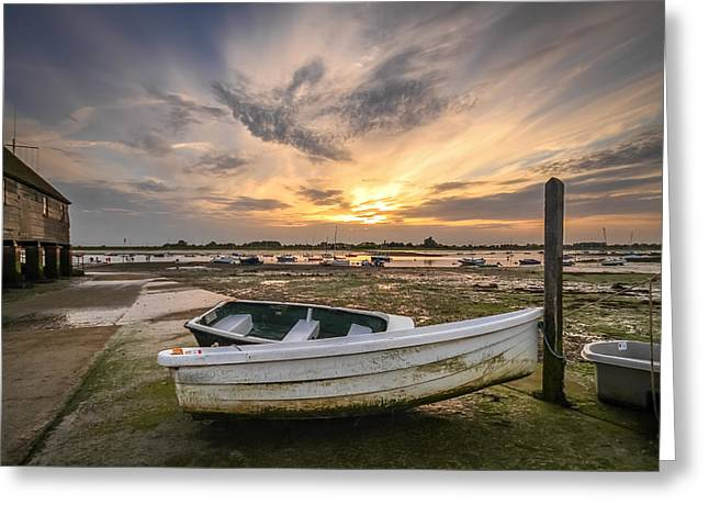 Waiting For The Tide Greeting Card by Jacqui Collett