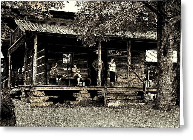 Greeting Card featuring the photograph Waiting For The Train by B Wayne Mullins