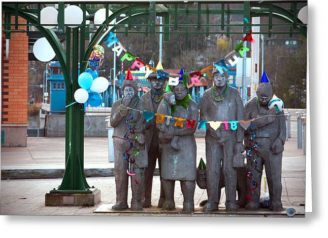 Waiting In The Interurban Greeting Card by Joanna Madloch