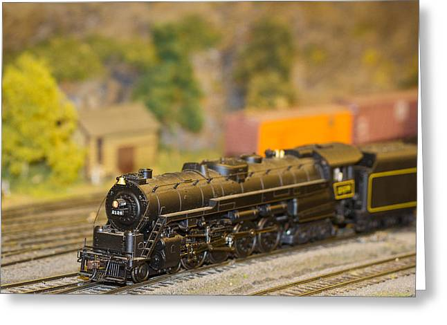 Waiting Model Train  Greeting Card by Patrice Zinck