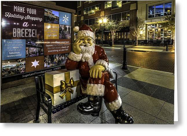 Waiting On Christmas In Sugar Land  Greeting Card by David Morefield