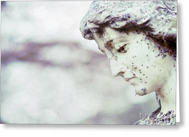 Waiting On Eternity Cemetery Photo Greeting Card by Sonja Quintero
