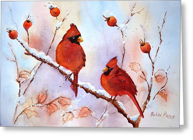 Waiting On The Girls Greeting Card by Bobbi Price