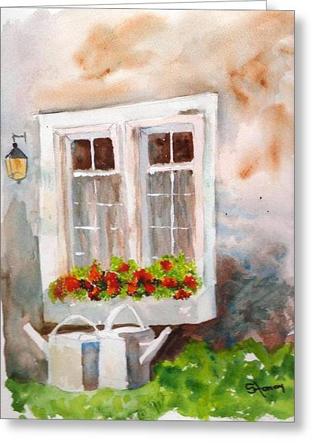 Waiting To Be Watered Greeting Card by Sandi Stonebraker