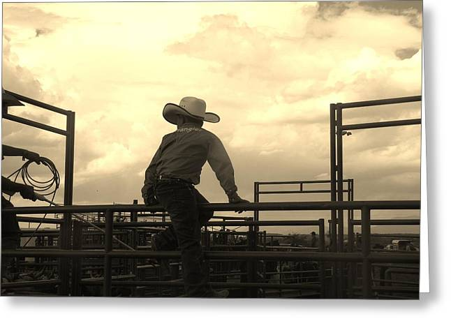 Waiting To Ride Greeting Card by Feva  Fotos