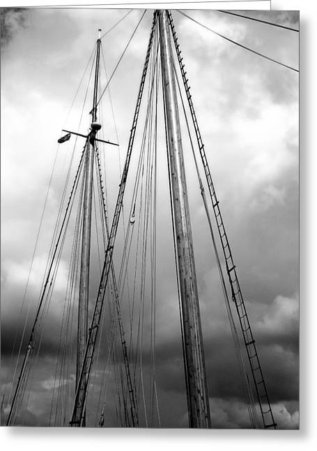 Greeting Card featuring the photograph Waiting To Sail by Ellen Tully