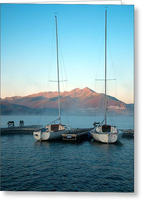 Waiting To Sail  Greeting Card by Eric Rundle