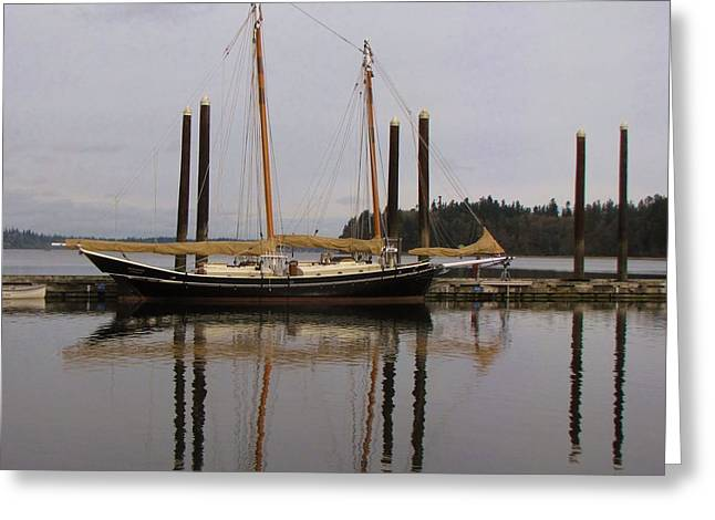 Waiting To Sail Greeting Card by Feva  Fotos