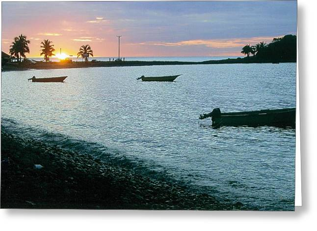 Waitukubuli Sunset Greeting Card