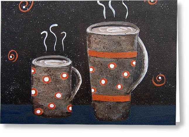 Wake Up And Smell The Coffee Greeting Card by Suzanne Theis