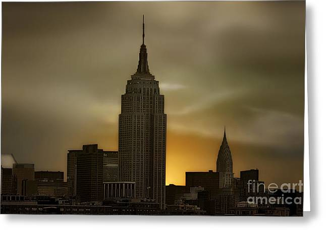 Wake Up New York Greeting Card by Tom York Images