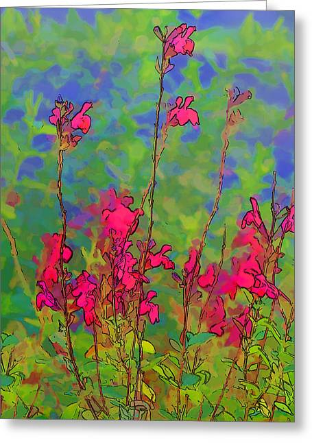 Wake Up Smell The Flowers Greeting Card by Linda Phelps