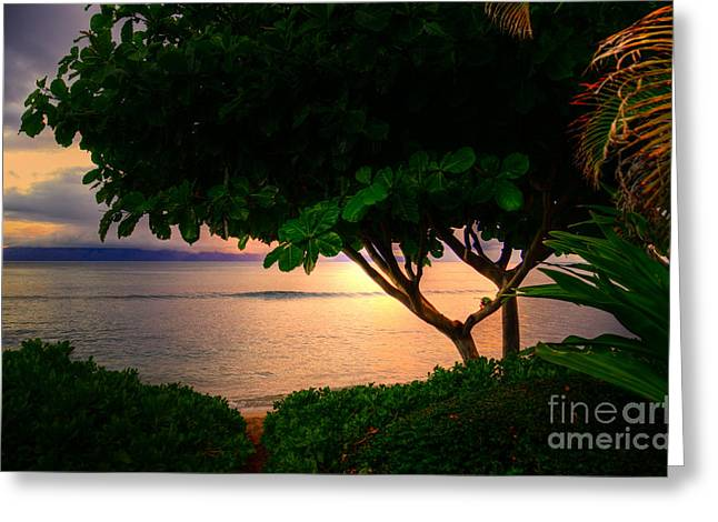 Waking Ka'anapali  Greeting Card by Kelly Wade
